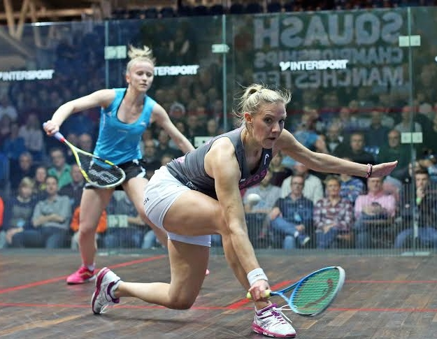Laura Massaro is forced to work hard by Emily Whitlock