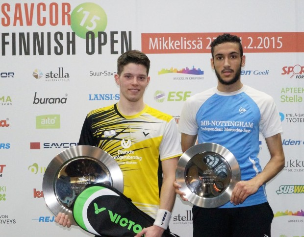 Finnish Open finalists Raphael Kandra and Declan James (right)