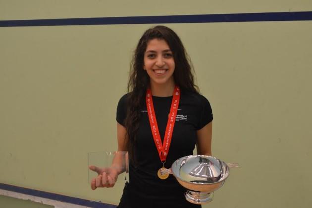 Student champion Yathreb Adel