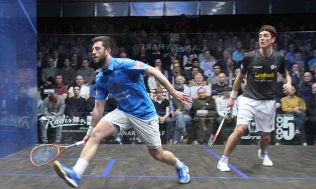 Daryl Selby in action against Joe Lee