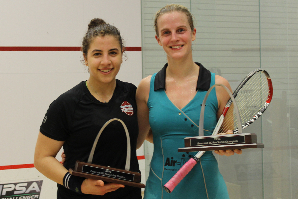 Emma (right) and Kanzy with their trophies