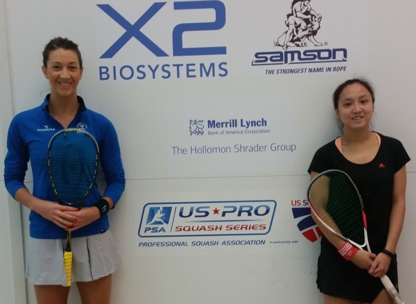 Donna Urquhart (left) and  Liu Tsz-Ling after the Seattle final