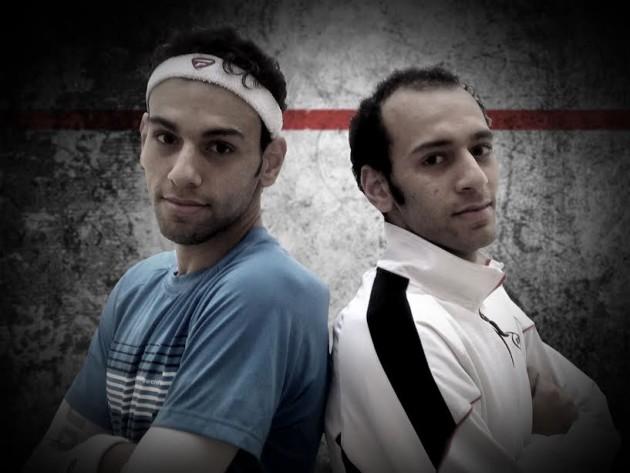 Oh brother: Mohamed (left) and Marwan El Shorbagy