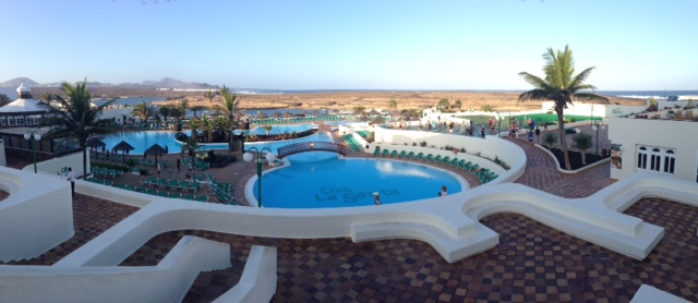 The inviting view over the pool ... a great place to head after a busy day on court