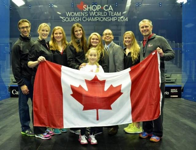 Danny Da Costa (centre right) was proud of Canada's hosting of the Women's World Team Championship