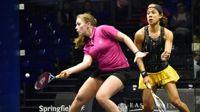 Tesni takes a game off Nicol David at the British Open
