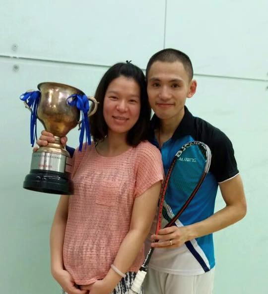 Max Lee wins the Hong Kong Classic nd celebrates with wife Sandy