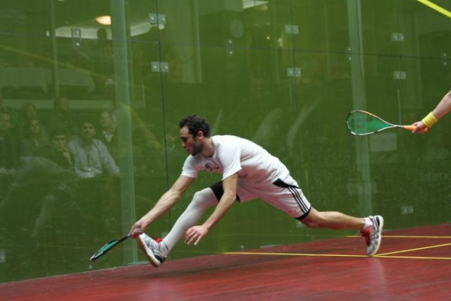 Ramy Ashour has frequently worn special socks to support his leg