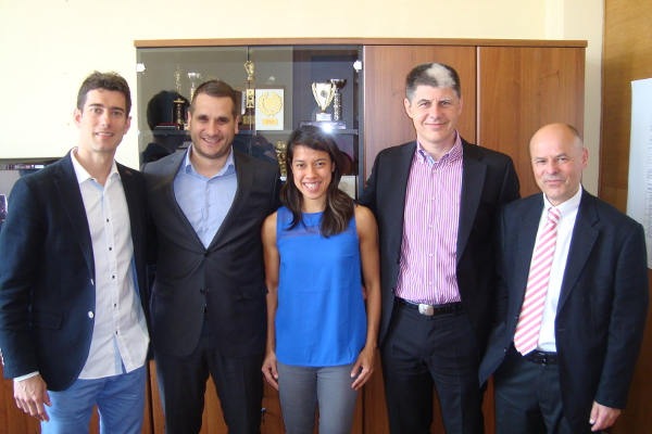 Zekovic is second left  with (L to R) Golan; David; Vitorovic; and Shelley