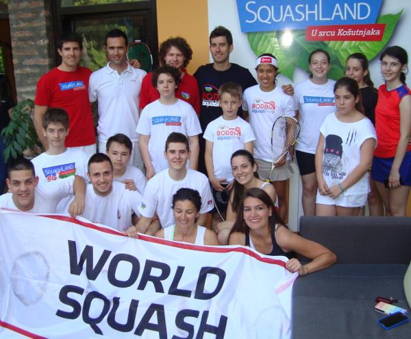 Growing the game: Serbian enthusiasts welcome squash ambassadors Nicol David and Borja Golan