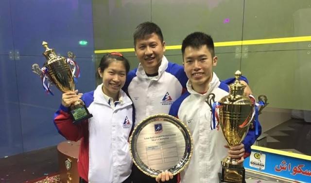 Leo and Annie Au celebrate their Asian titles