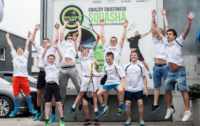 Jumping for joy in Krakow