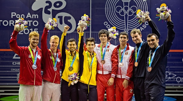 Left to right: Canada, Colombia, Peru and USA