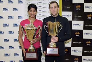 Champions Ryan Cuskelly and Joshana Chinappa
