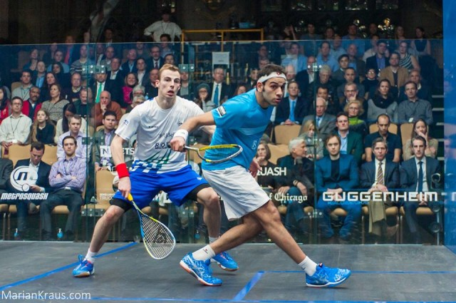 Mohamed Elshorbagy and Nick Matthew could meet again in Dubai