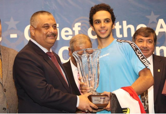 Trophy time for Mohamed Abouelghar in Islamabad