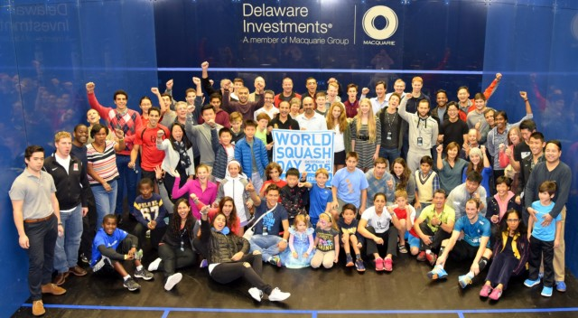 All aboard: stars and staff fill the glass court at the US Open