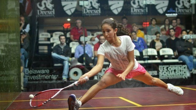 Nouran Gohar in action at the US Open