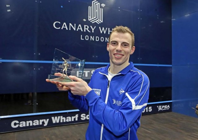 HIGH FIVE: Nick Matthew's fifth triumph at Canary Wharf in March