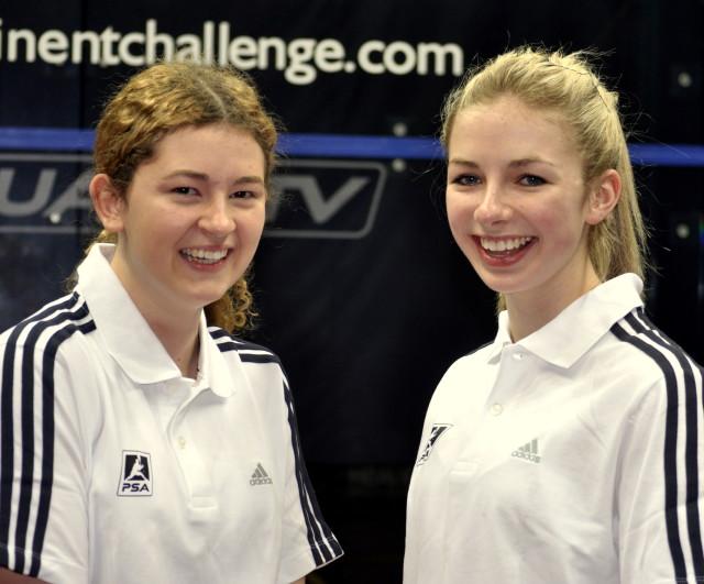 England hopefuls Gina Kennedy (left) and Amelia Henley
