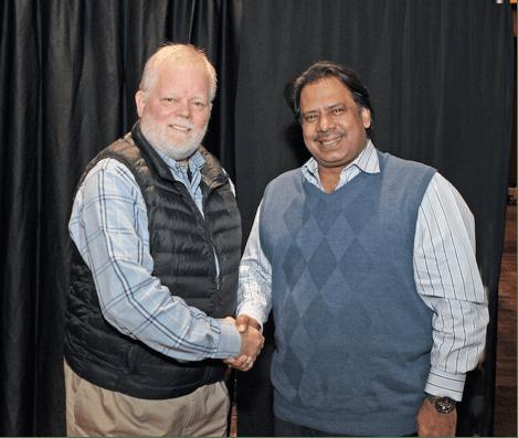 Jahangir Khan and David Carr of McWIL