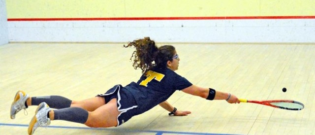 Kanzy El Defray makes one of her trademark dives