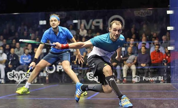 Gregory Gaultier is crowned by a halo of genius as he overwhelms James Willstrop in the semi-final