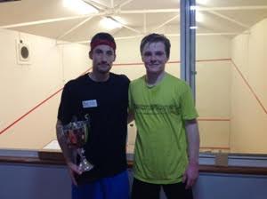 Winner Ondrej Uherka and runner-up James Peach