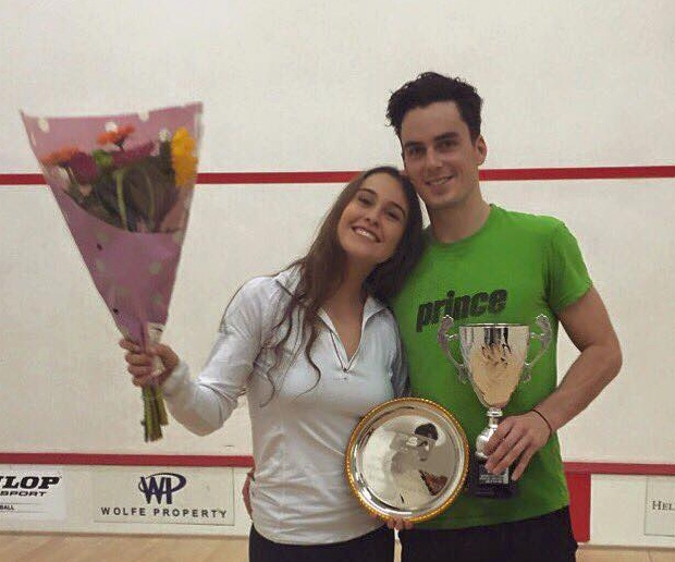 Paul Coll and women's runner-up Nele Gilis: could be a great doubles team!