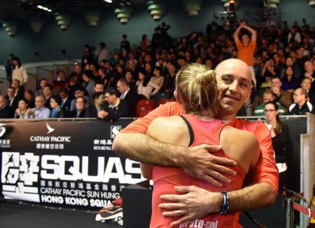 Laura Massaro celebrates with husband Danny