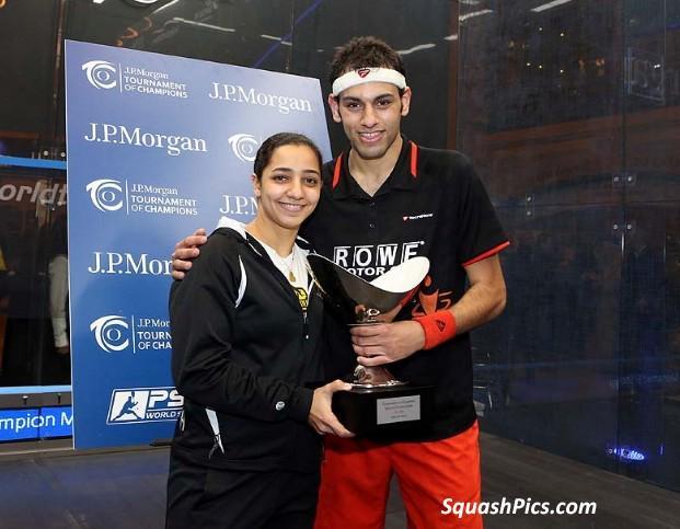 Egypt's 2015 champions Raneem El Welily and Mohamed Elshorbagy