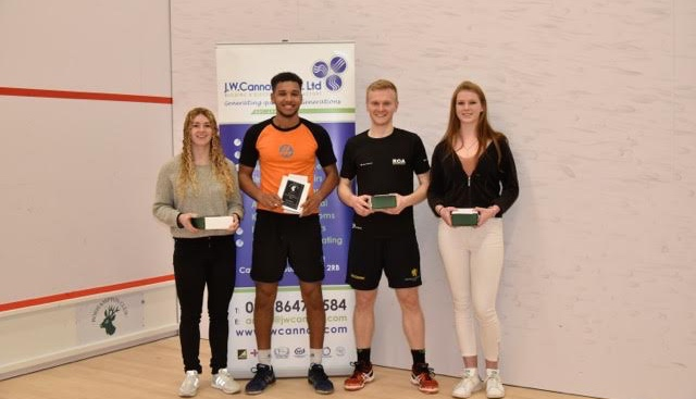 The four finalists at Roehampton, Ellie Epke, Richie Fallows, Joel Makin and Gina Kennedy Picture by PATRICK LAUSSON