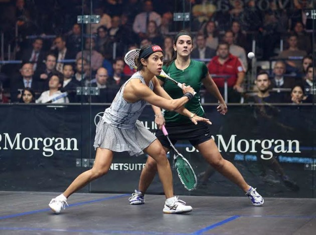 Nicol David set to volley against Omneya Abdel Kawy