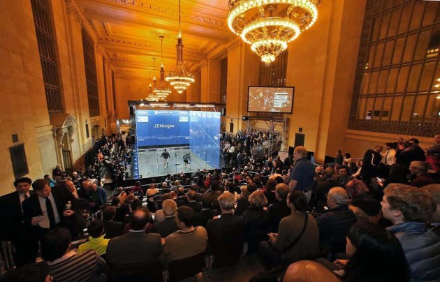 The McWil glass court at Grand Central
