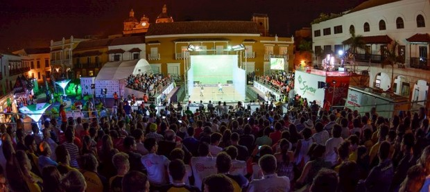 The spectacular setting in Cartagena
