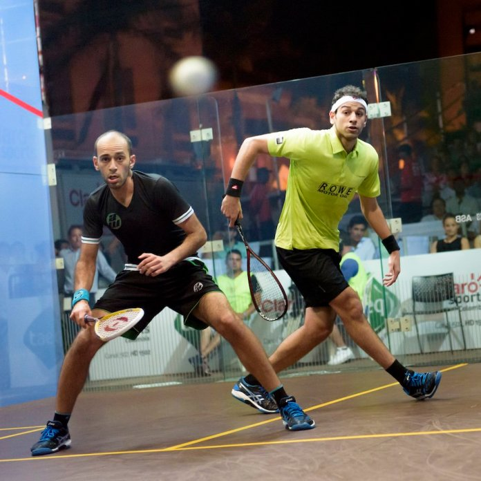 Marwan (left) and Mohamed battle for a place in the final