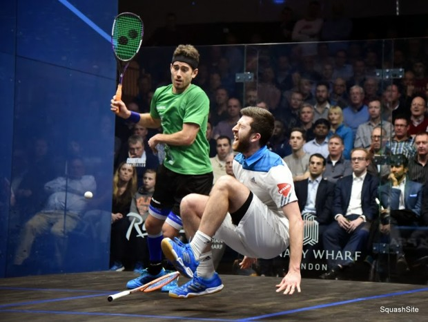 Flashback to Canary Wharf last year as Daryl Selby and Borja Golan fight it out