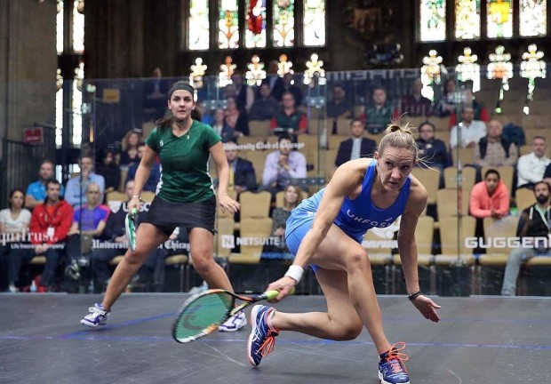 Laura Massaro turns up the pace against Omneya Abdel Kawy