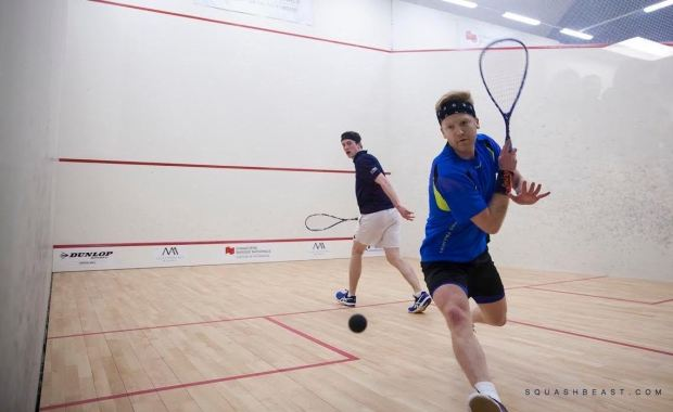 Tom Richards in action against Todd Harrity