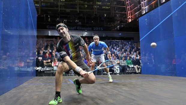 Simon Rosner beats Peter Barker to reach the 2015 Canary Wharf final