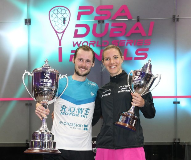 Dubai champions Gregory Gaultier and Laura Massaro