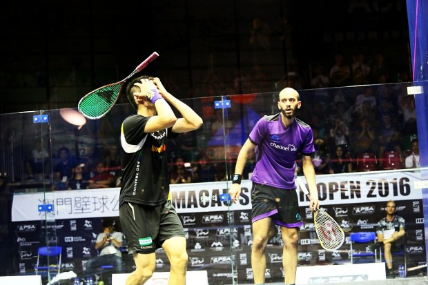 Max Lee wins his semi-final against Marwan Elshorbagy