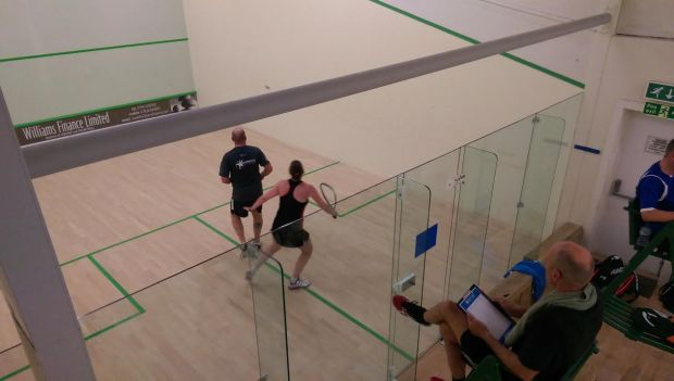 Action from a Rackets Academy tournament at Ilkley
