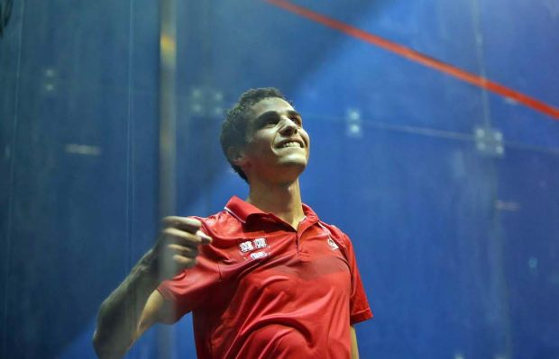 What a win! Ali Farag celebrates victory