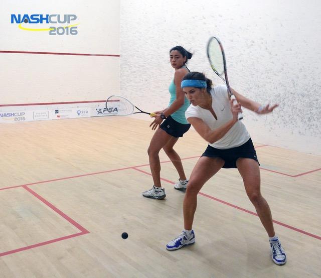 Samantha Cornett sets up a backhand