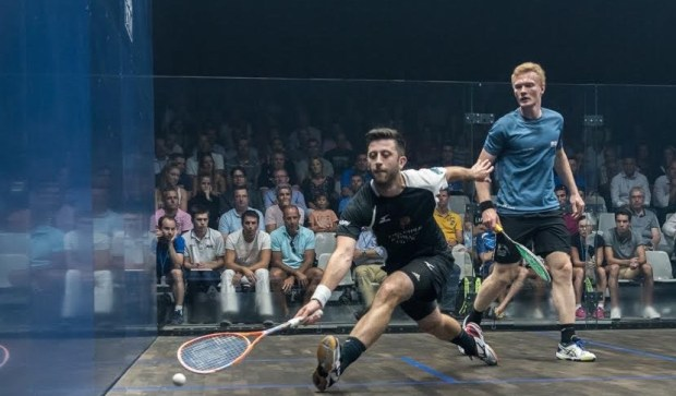 Daryl Selby on the ball against Joel Makin