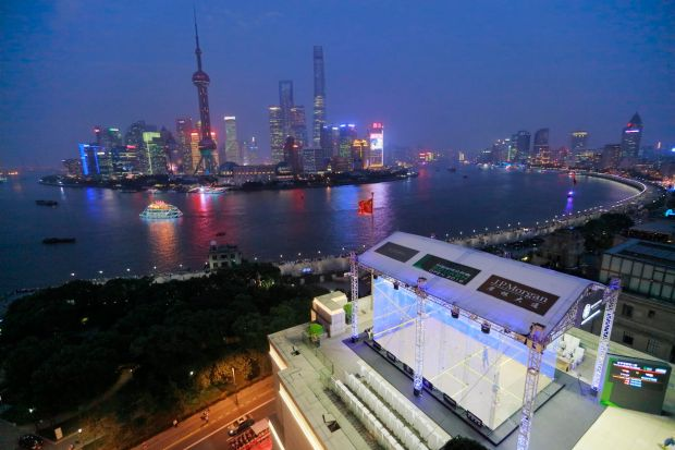 The China Open venue in Shanghai