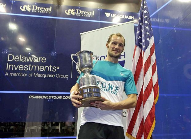 Reigning US Open champion Gregory Gaultier