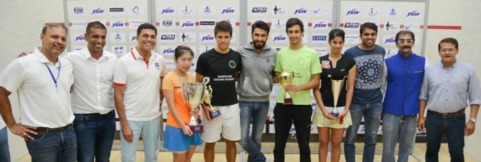 Finalists and sponsors join Ranveer Singh on court