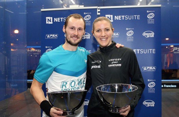 San Francisco champions Gregory Gaultier and Laura Massaro